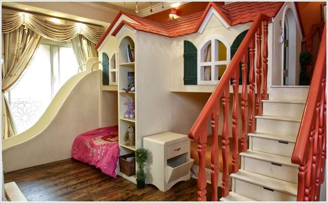 15 fun and cool indoor playhouse ideas for your kids for Playhouse interior designs