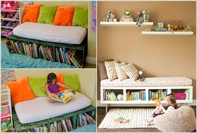 8 Kids Storage And Organization Ideas: 10 Cool And Creative Kids' Book Storage Ideas