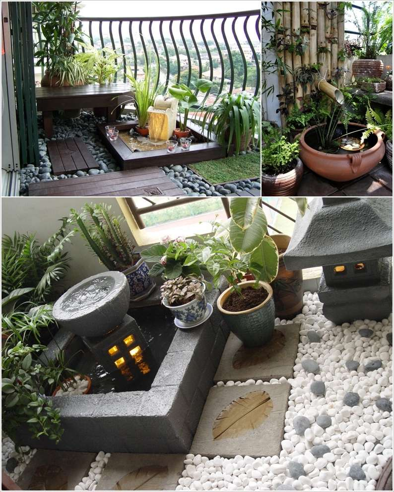 Bohemian dream home on pinterest pantone color palettes for Balcony zen garden ideas