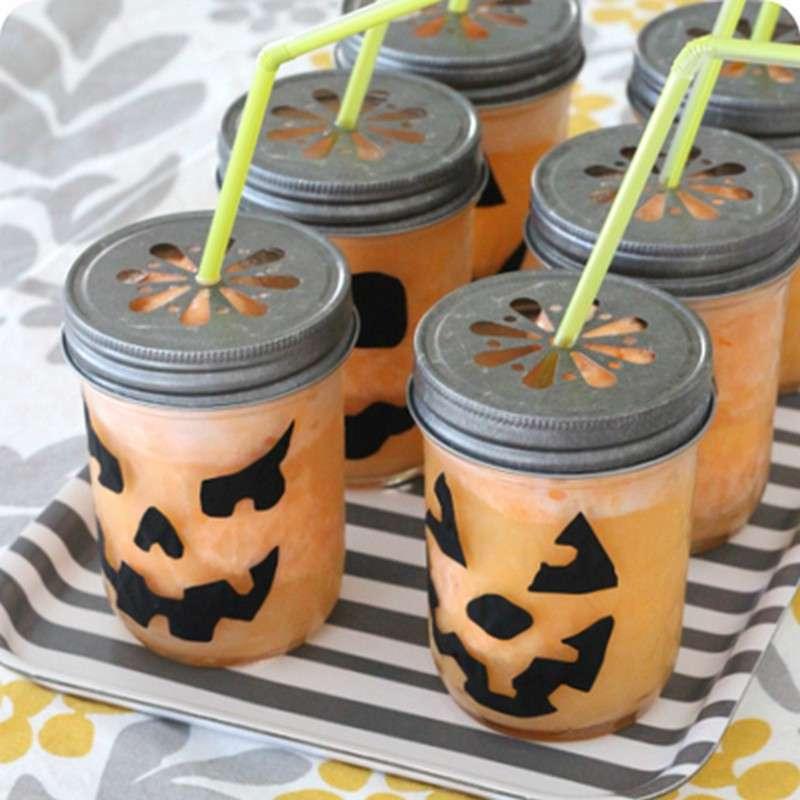 Fizzy Halloween Mason Jars