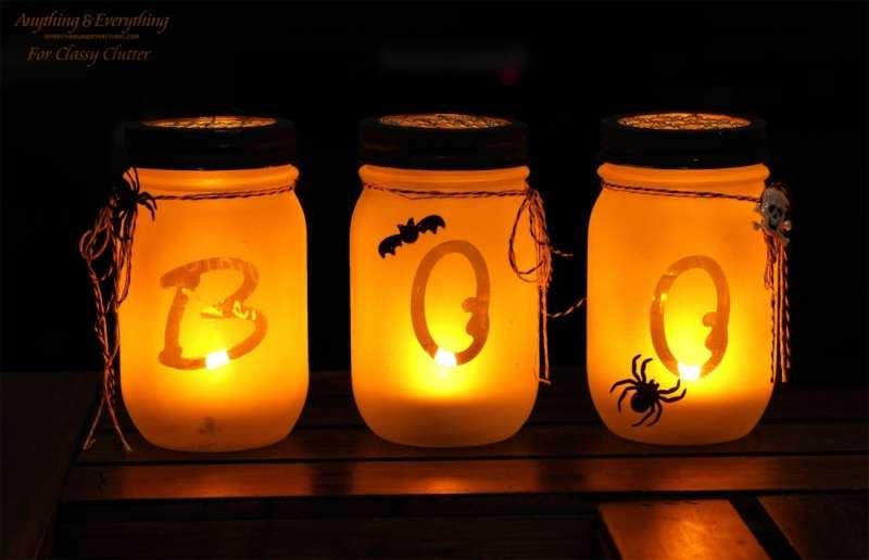 Halloween Mason Jars Luminarias