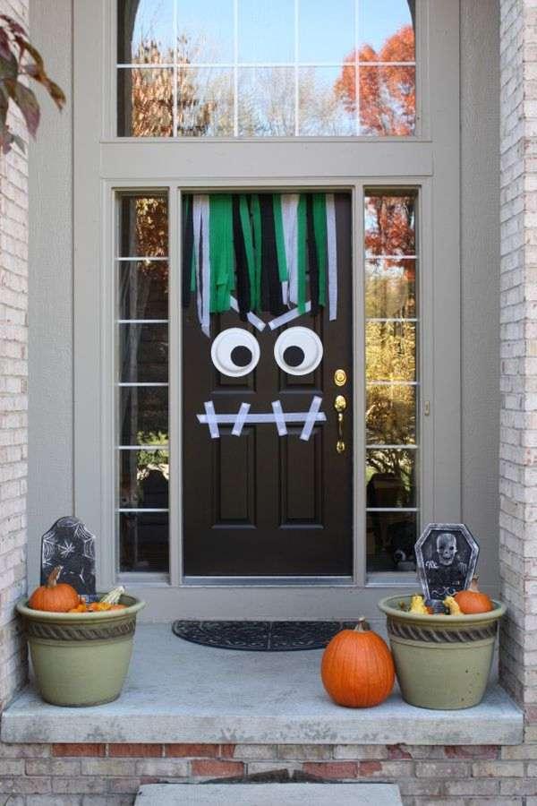 Monster Halloween Front Door