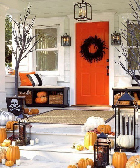 Skeleton  Halloween Porch