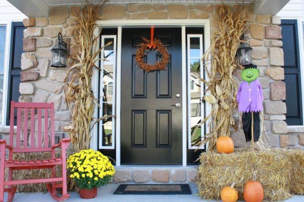 Vintage Halloween Front Door