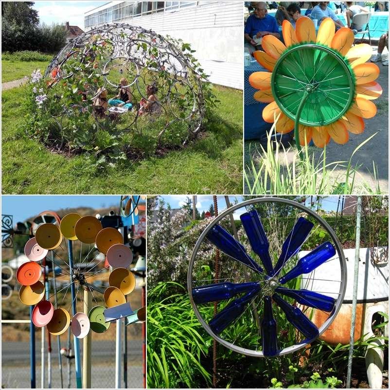 10 Fabulous Ideas to Use Bike Wheels for Garden Decor