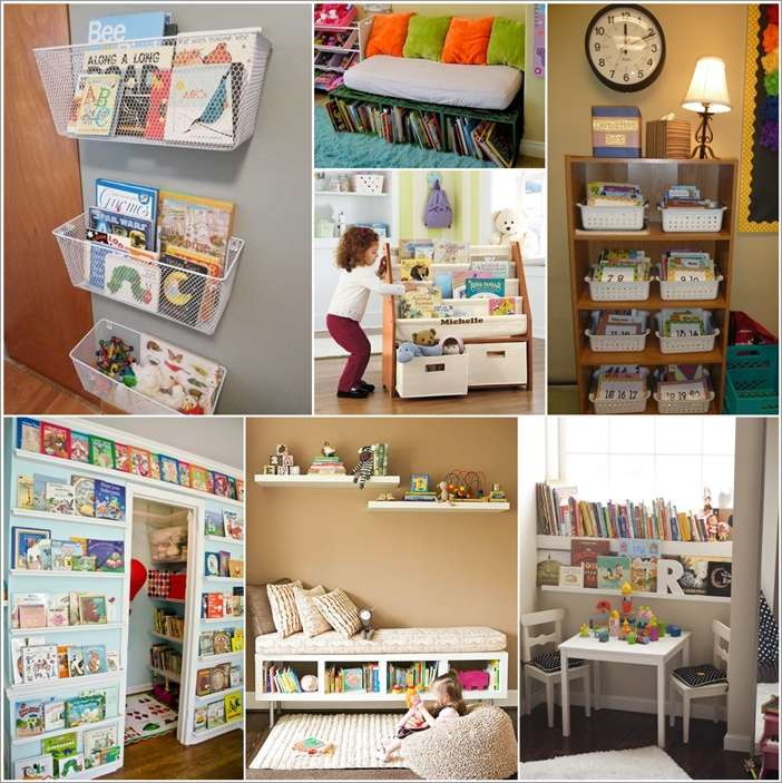 10 cool and creative kids' book storage ideas
