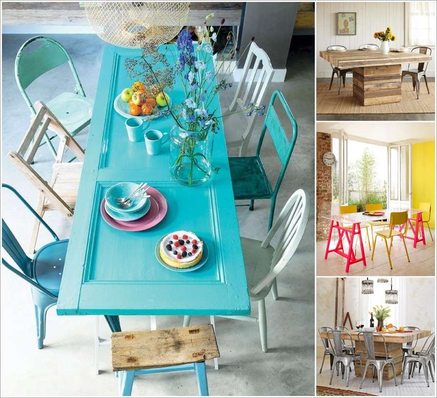 10 spectacular diy dining table ideas for your home for Homemade dining room table ideas