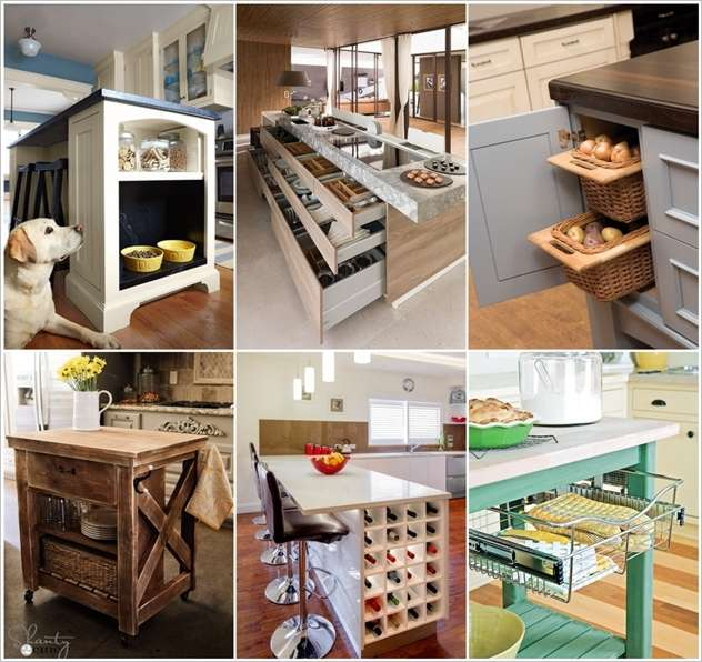 clever kitchen design.  15 Clever Kitchen Island Hacks to Make it More Functional