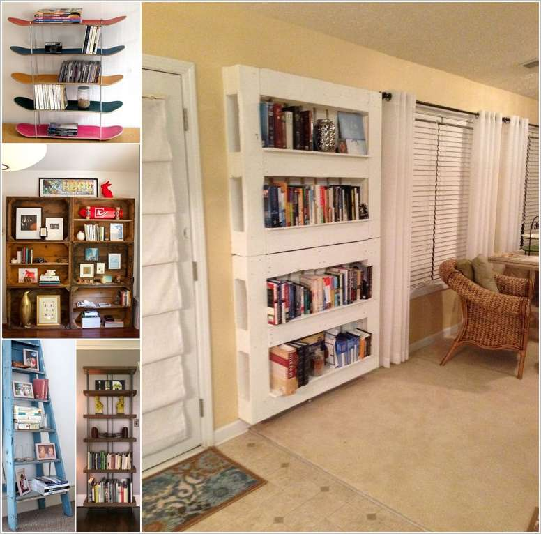 Cheap Bookshelves Ideas: 15 DIY Bookshelf Ideas That Are More Than Awesome