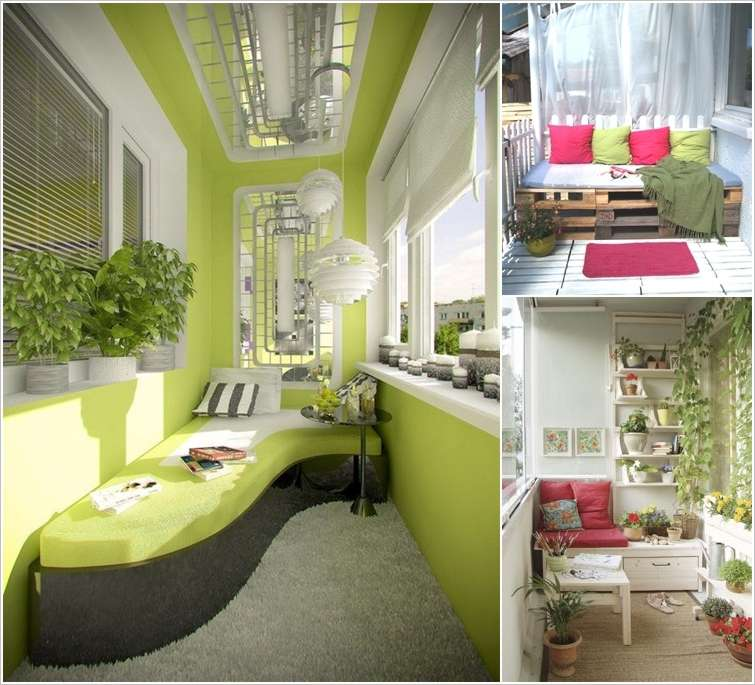 10 Big Ideas To Decorate A Small Space Balcony