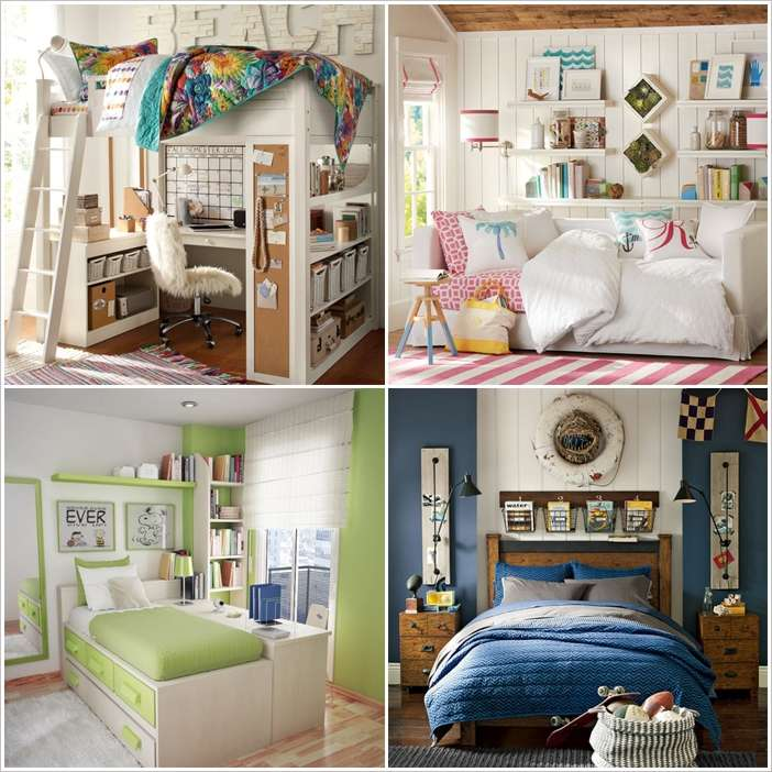10 clever solutions for small space teen bedrooms for Teenage bedroom ideas for small rooms