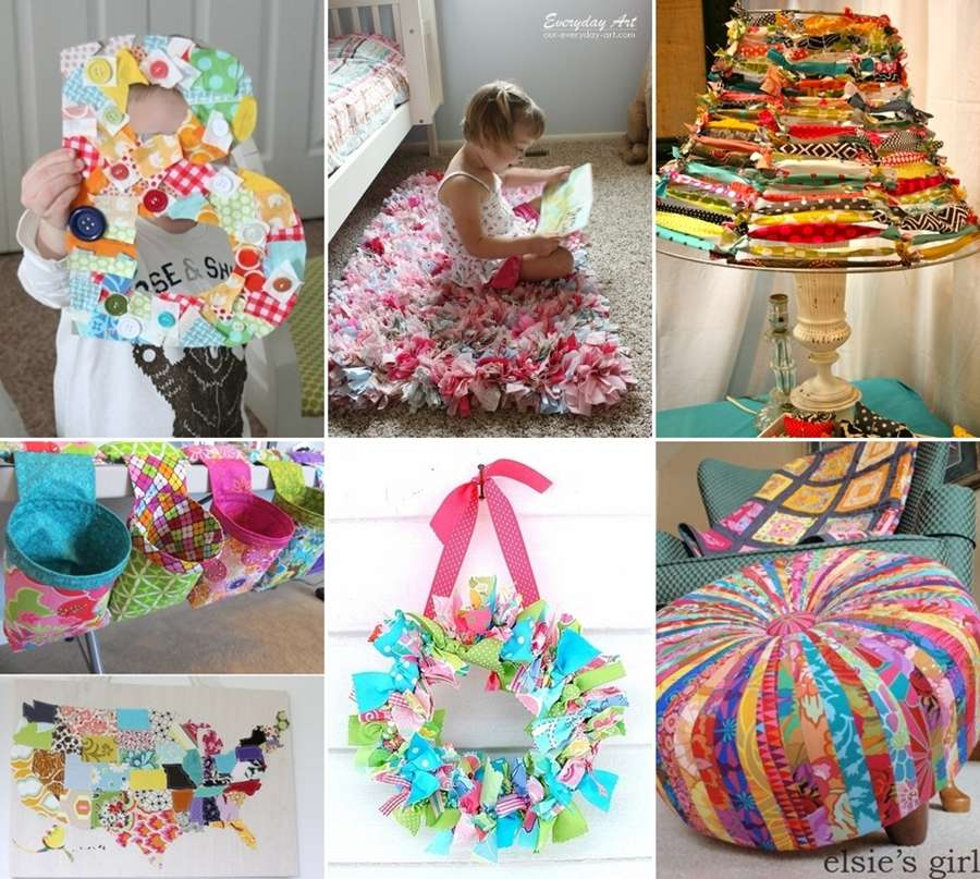 15 Creative Garden Ideas You Can Steal: 15 Creative Ideas To Recycle Fabric Scraps For Home Decor