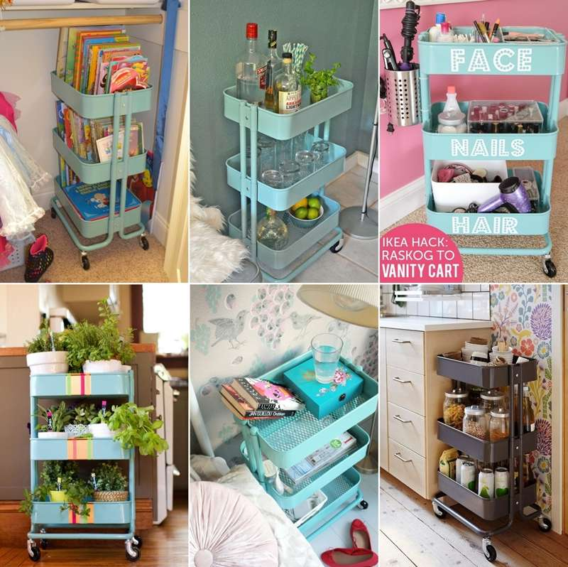 15 clever ikea rolling cart hacks that are simply awesome - Carritos de cocina ikea ...