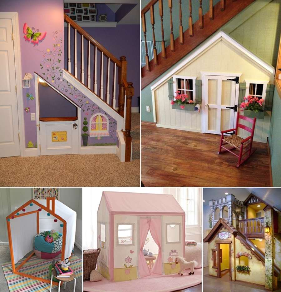 15 Fun And Cool Indoor Playhouse Ideas For Your Kids