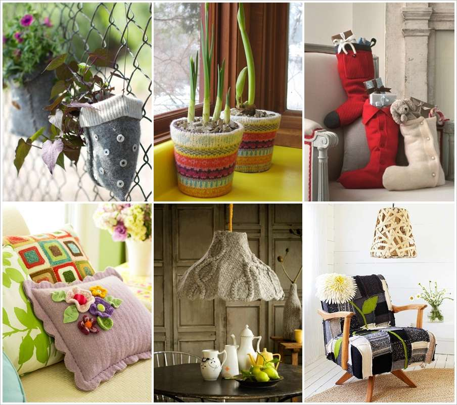 Recycle Home Decor Ideas: 15 Creative Recycled Sweater Home Decor Projects