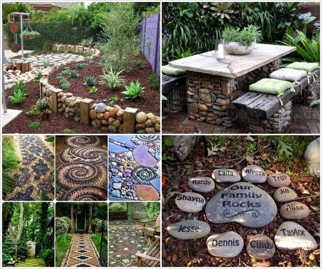 12 ideas to decorate your garden with rocks and stones for Outdoor decorating with rocks