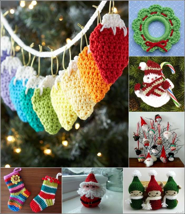 25 awesome and free crochet christmas ornament patterns