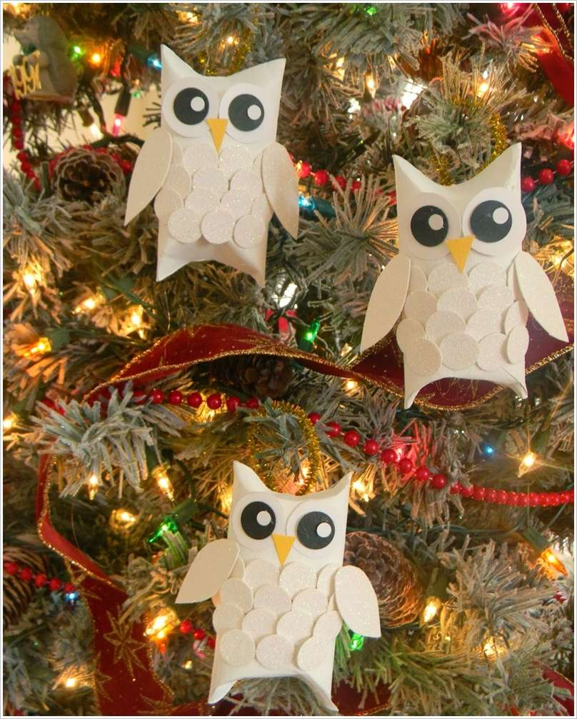 Make These Lovely Snow Owl Christmas Ornaments