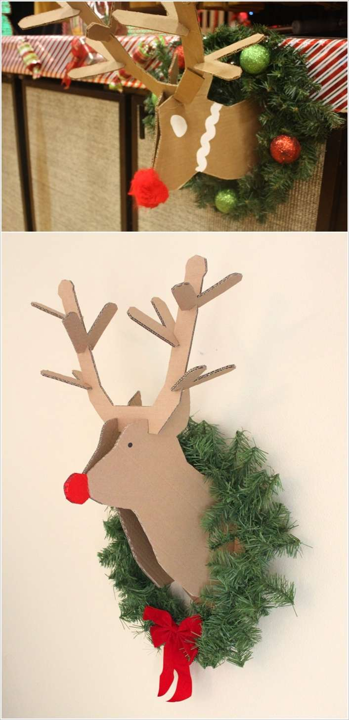 2 - Cardboard Christmas Decorations