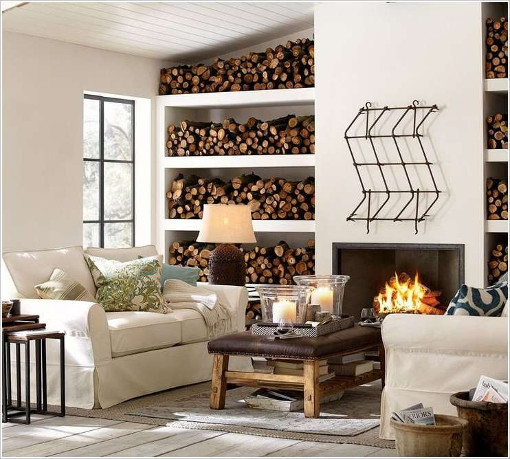 10 Amazing Ideas To Decorate The Sides Of A Fireplace