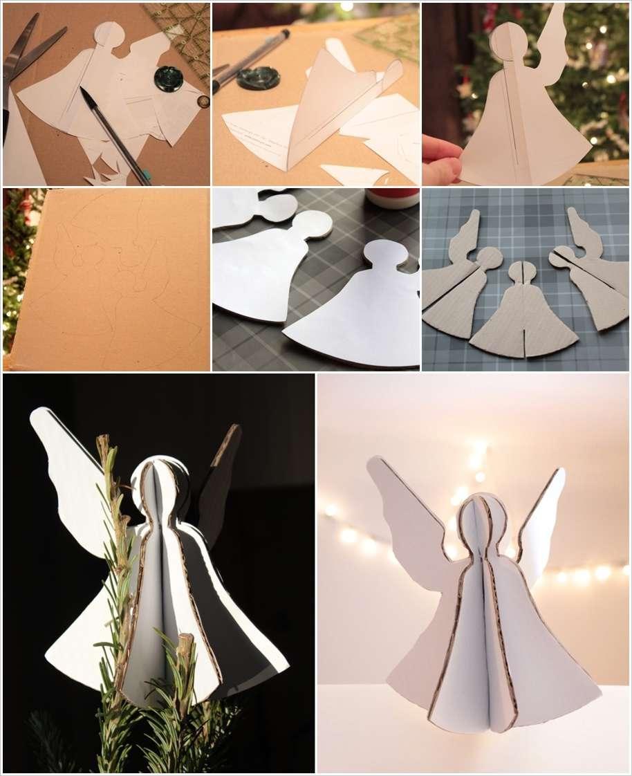 Как сделать большого ангела из бумаги