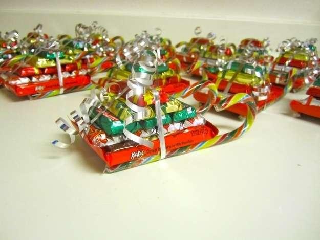 Christmas candy sleighs