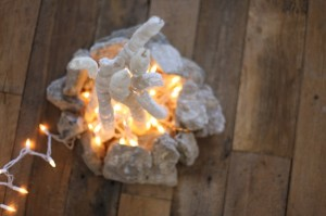 Fireless Fire Pit  (perfect for a kid's room!)