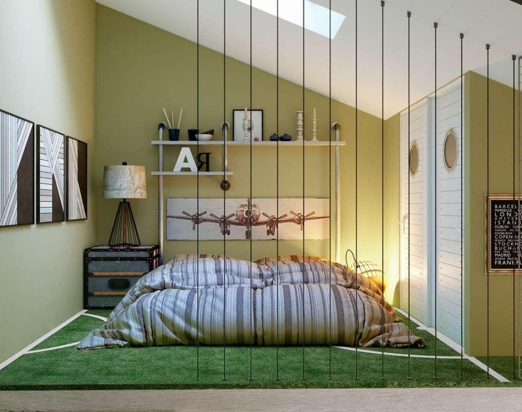 Green Teen Bedroom