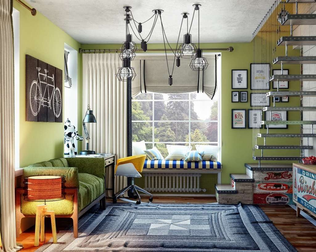 15 creative and cool teen boy bedroom ideas for Sofas para habitaciones juveniles