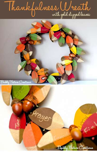 Paper Thankful wreath
