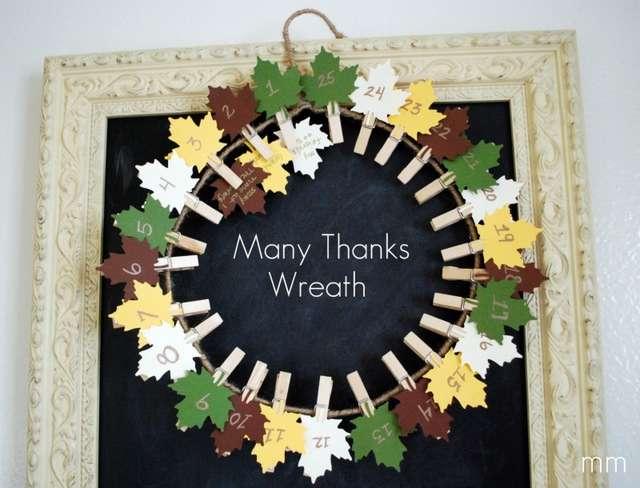 Thanksgiving countdown wreath