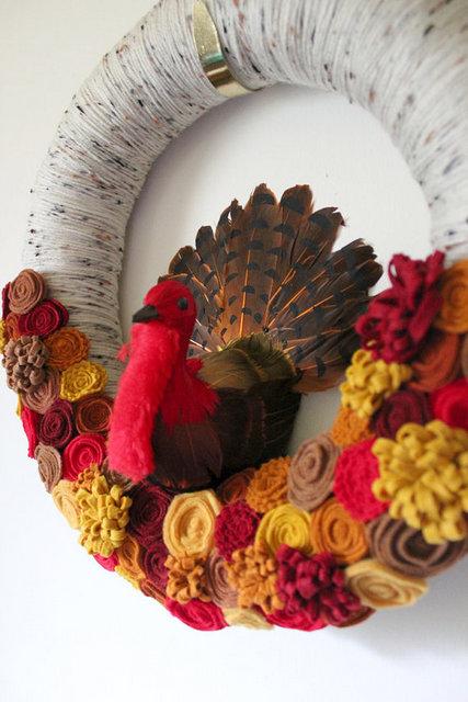 Turkey Thanksgiving Wreath