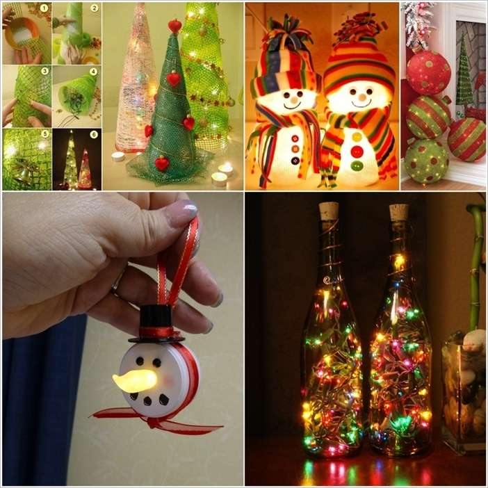 13 lighted christmas decorations that you can make yourself - Christmas Decoration Ideas To Make