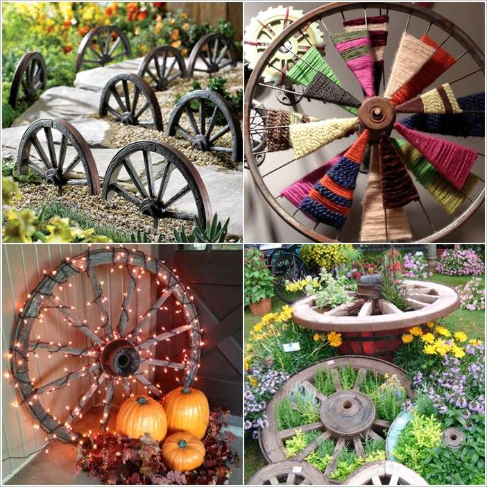 If You Hen To Have One Or Two Wagon Wheels In Your Home And Are A Quandary About Them Then It Is The Time Take Out