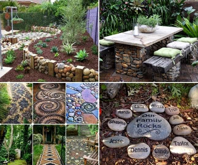 12 ideas to decorate your garden with rocks and stones for Garden decorations to make