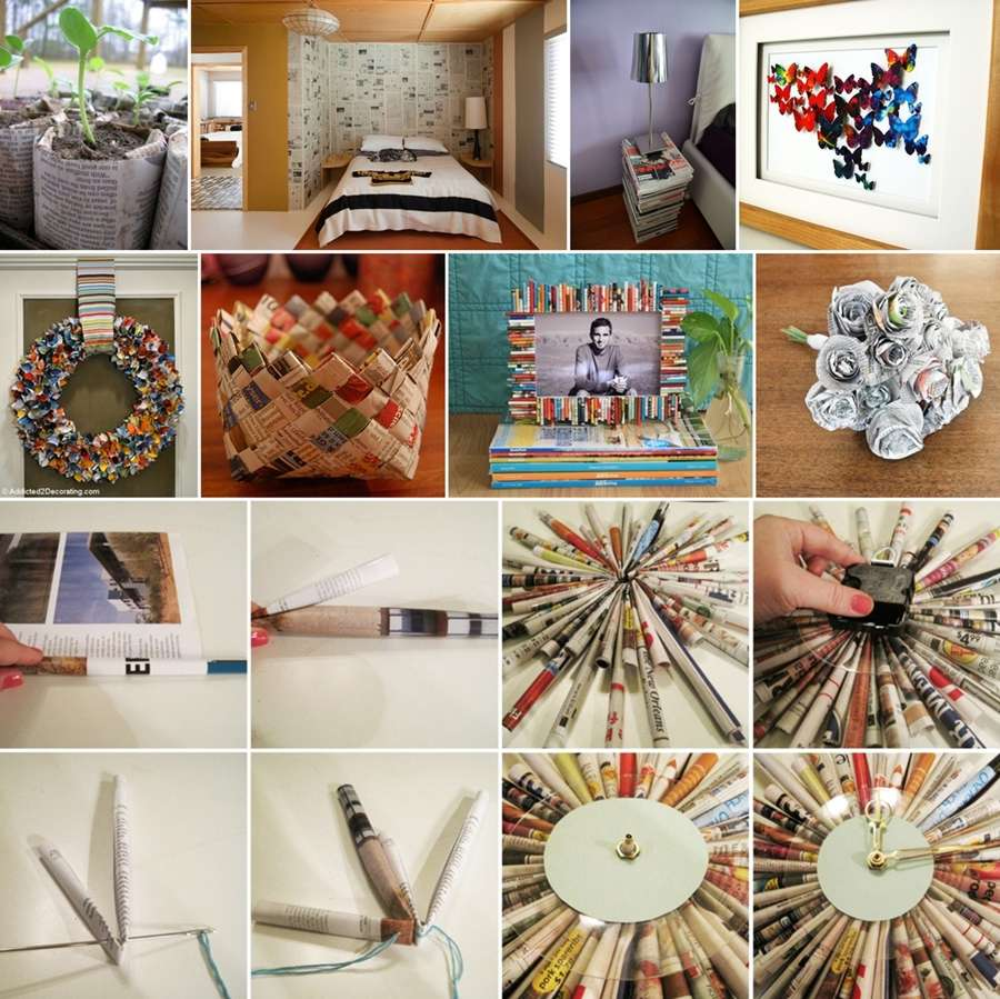 35 thrifty ideas to recycle old newspapers and magazines for Ideas for old magazines
