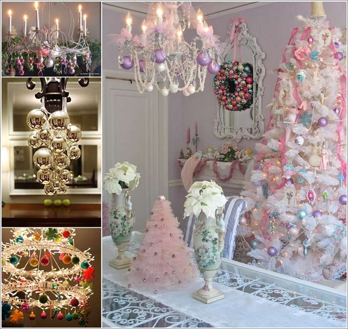 25 creative christmas chandelier decorating ideas for Unusual decorating ideas