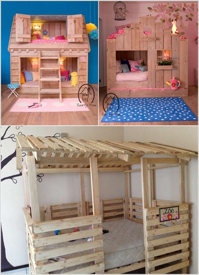 15 fabulous pallet projects for your kids 39 room for Diy kids pallet bed