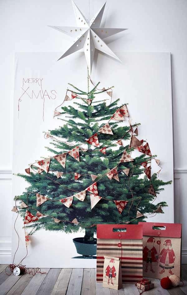2-D Gift Bag Christmas Tree