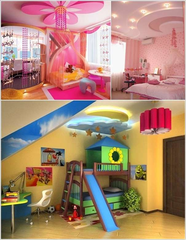 Kids Room False Ceiling Design: 15 Lovely Ideas To Design A Kids' Room Ceiling