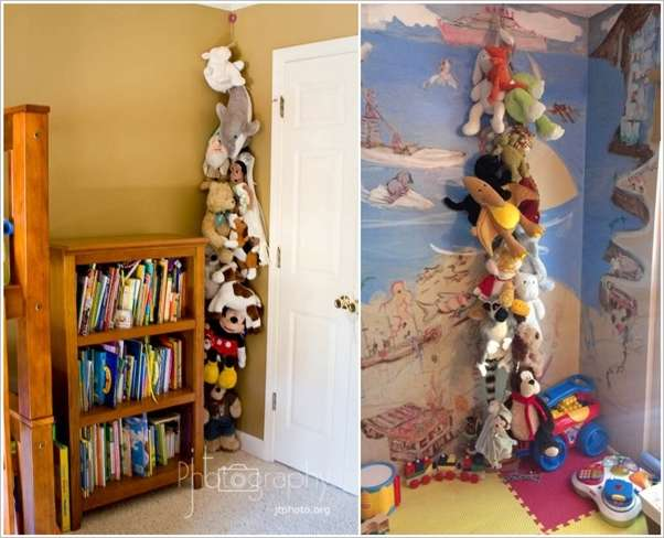 Cute Stuffed Toy Storage Ideas For Your Kids Room