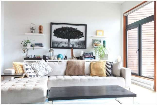 15 Amazing Ideas To Decorate Behind A Living Room Sofa