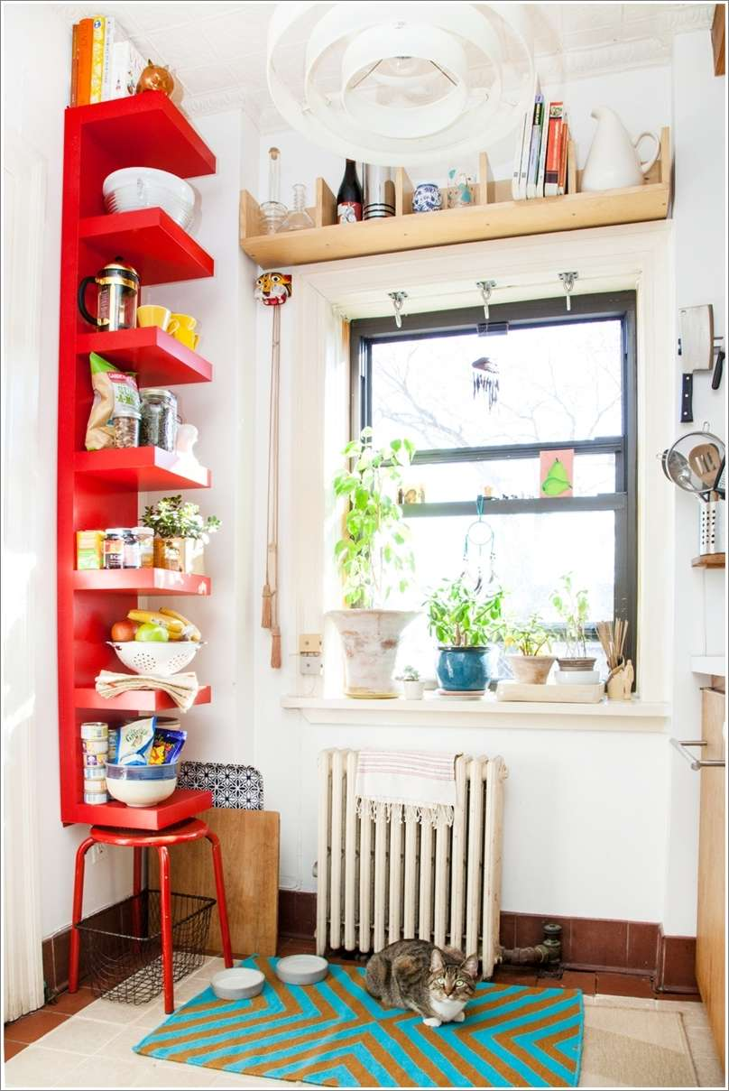 10 vertical kitchen storage ideas that will leave you inspired for Narrow kitchen ideas home