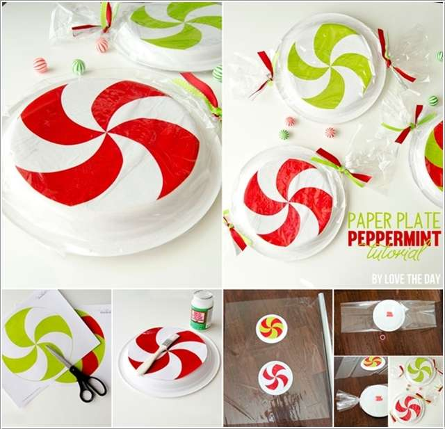 8. Paper Plate Peppermint Candies  sc 1 st  Amazing Interior Design & 13 Awesome Paper Plate Christmas Decoration Craft Ideas