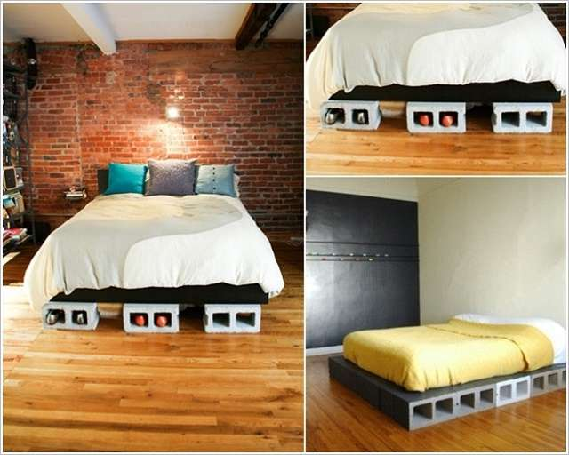 Cinder Block Bed Frame