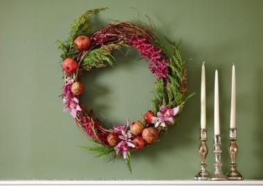 Classy Mantel Wreath
