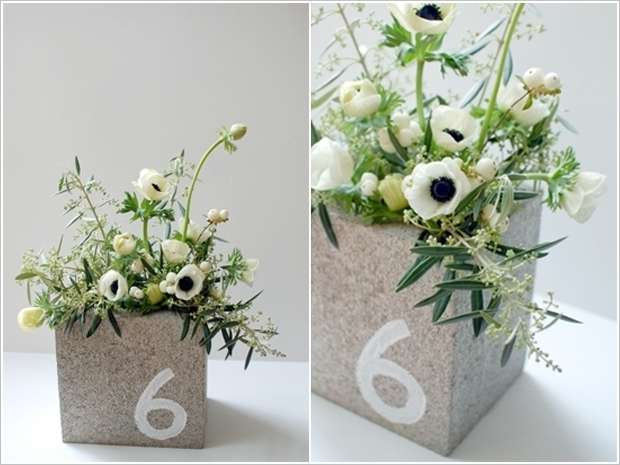 Concrete Block Centerpiece