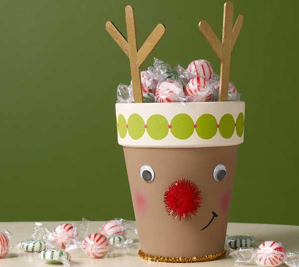 Cute and Crafty Reindeer Pot