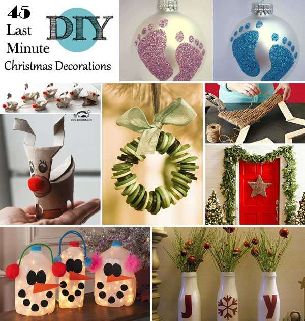 Simple Christmas Home Decorations: 15 Super Easy Last Minute Christmas Decorations