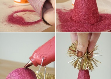 Make Your Own Glitter Party Hats